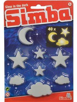 """Набор сияющих элементов """"Звезды, облака и месяцы"""", флуоресцентные, 40 штук, 3."""