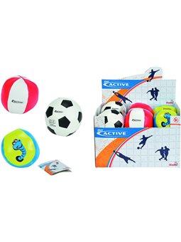 """М'яка кулька """"Спорт"""", 10 см, дисплей 12 шт, 3 види, 3+"""