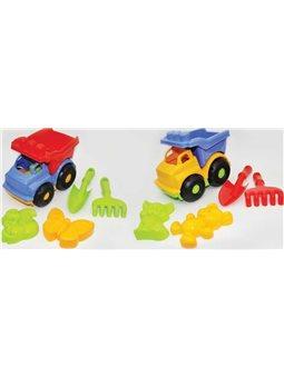 Детский набор игрушек «Строитель»: машина, лопатка, грабли, две пояса большие, 2 вида, 3