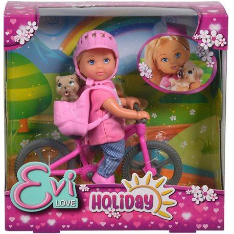 """Фото Кукла Эви """"Холидей. На велосипеде"""" с любимцем, 3"""