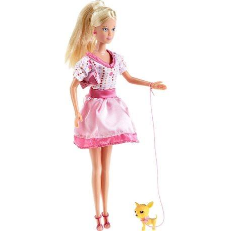 Фото Кукла Штеффи с собачкой, 2 вида, 3