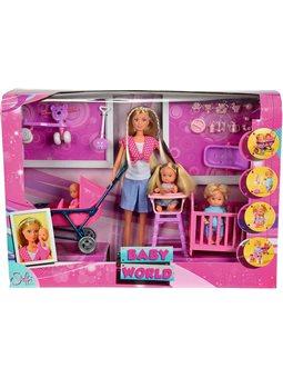 Кукольный набор Штеффи с детьми и аксес., 3