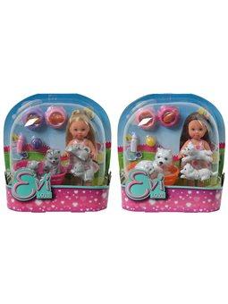 Кукла Эви с животными, 2 вида, 3