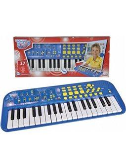 """Музыкальный инструмент """"Электросинтезатор"""", 37 клавиш, 7 ритмов, 50х20 см, 4+."""
