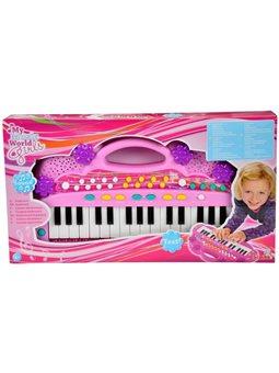 """Музыкальный инструмент """"Электросинтезатор. Девичий стиль"""", 32 клавиши, 6 мелодий, 8 ритмов, 39 см, 4+"""