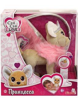 """Собачка CCL """"Чіхуахуа Фешн. Принцеса краси"""" у хутряному манто з тіарою та сумочкою, 20 см, 5+"""