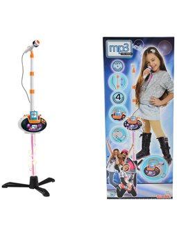 """Музыкальный набор """"Микрофон на стойке"""", съемная база и разъем для MP3-плеера, с свет., Эффектами, 6+"""