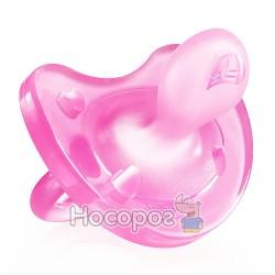 Пустышка Physio Soft Chicco силиконовая от 6 до 12 месяцев 1шт. розовая