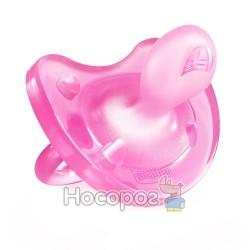 Пустушка Physio Soft Chicco силіконова від 12 місяців 1шт. рожева