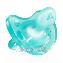 Пустышка Physio Soft Chicco силиконовая от 0 до 6 месяцев 1шт. голубая