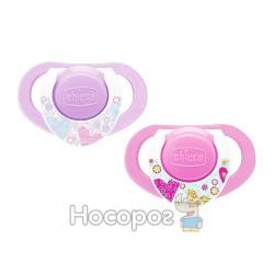 Пустушка Physio Compact Chicco силіконова від 12 місяців 2шт. рожева
