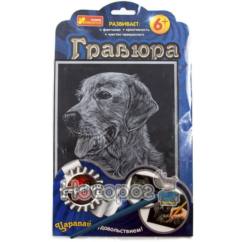 """Фото 7018-40 Гравюра Серебро """"Собака с высунутым языком""""15102060Р"""