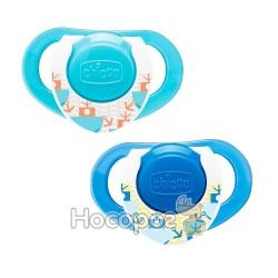 Пустышка Physio Compact Chicco латексная от 12 месяцев 2шт. голубая