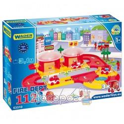 """Игровой набор """"Пожарная станция"""" Wader """"Kid Cars 3D"""" 53310"""