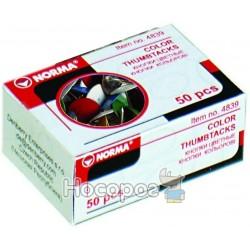 Кнопки NORMA 4839 (50шт) кольорові в асортименті (04110410) (10/500)