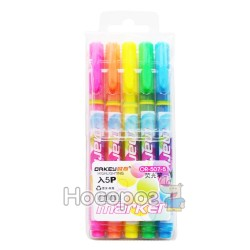 Текстовиділювач DRKEY Marker Fresh OR-507-5 кольорів