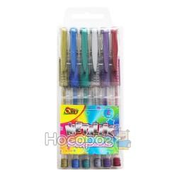 Ручки в наборе Olli OL-0609 гелевые Metal, 6 цветов 470495