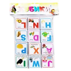 Кубики детские с буквами английскими Козлов