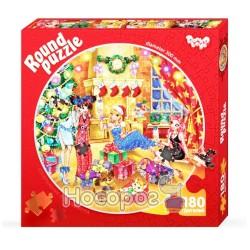 Пазлы Danko toys 180 элементов в форме круга К-180-01-01