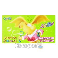 Пластилин 6 цветов Слон 1121