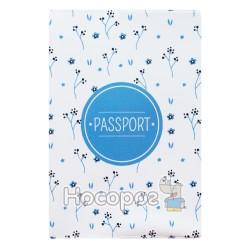 Обложка на паспорт Полимер Цветы на белом 307017