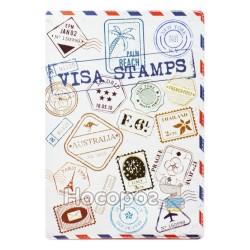 Обкладинка на паспорт Полімер Visa Stamps 307019