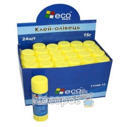 Клей-олівець ECO TY340-15D PVP 15 гр (24 шт)