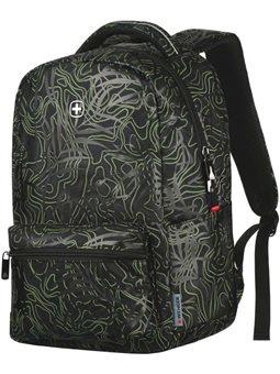 "Рюкзак с отделением для ноутбука Wenger Colleague 16 "", (Black Fern Print) [606466]"