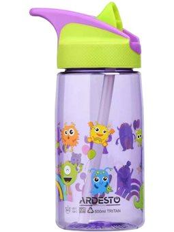 Бутылка для воды Ardesto Luna kids детская 500 мл, зеленый, тритан [AR2201TM]