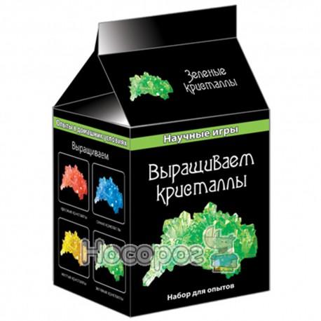 """0340 Научные игри мини """"Выращиваем кристаллы""""(зеленые) 12116006Р"""