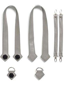 Набор (ручки, держатель, ремни на коляску) эко-кожа MyMia NU-PGBG0019-8803 серый [NV8803GREY]