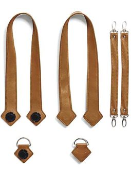 Набор (ручки, держатель, ремни на коляску) эко-кожа MyMia NU-PGBG0020-8803 коричневый [NV8803CAMEL]