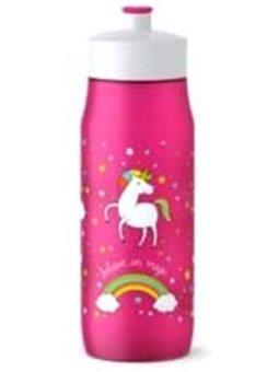 Детская бутылка для Питт Tefal 0,6 л, розовая, декор Единориг [K3201212]