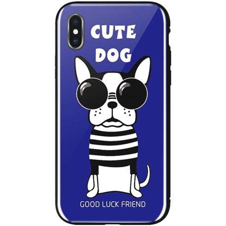 WK WPC-087 для iPhone XS [Cute Dog Blue (681920360841)]