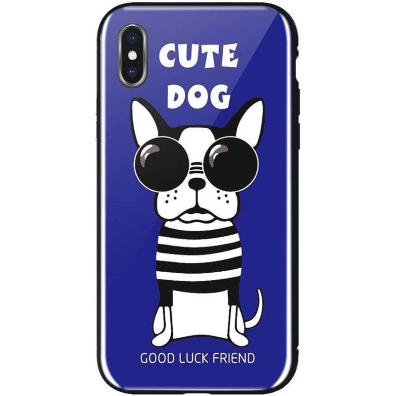 Фото WK WPC-087 для iPhone XS [Cute Dog Blue (681920360841)]