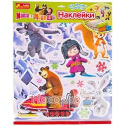 """8812 Интерьерные наклейки Маша и медведь """"Лыжи"""""""