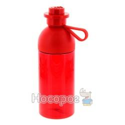 Бутылка для воды ярко-красная, полупрозрачная, объемом - 0.5л
