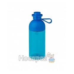Бутылка для воды ярко-синяя, полупрозрачная, объемом - 0.5л