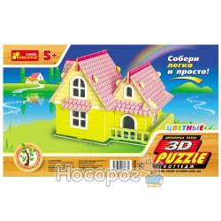 """8045 3Д пазлы цветные """"Коттедж"""""""