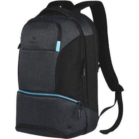 "Acer PREDATOR HYBRID BACKPACK FOR 15.6 "", BLACK WITH TEAL BLUE"
