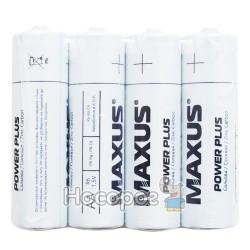 Батарейки MAXUS R6-AА-P4 пальчик сольова в плівці Power plus (4 шт)