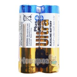 Батарейки АА GP Ultra Plus alkaline battery R6 1.5V 15AUPHM-2S2 пальчик лужна (2/40)