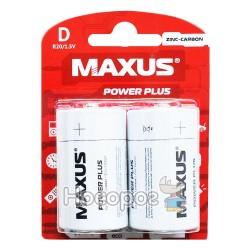 Батарейки MAXUS R20-D-С2 велика сольова Zinc-Carbon (2 шт)