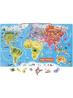 Janod Магнитная карта мира (англ.язык)