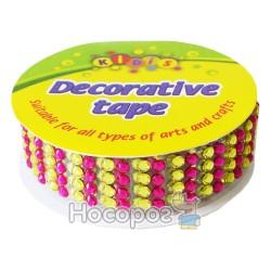 Декоративная лента 8285 пластиковая ажурная со стразами