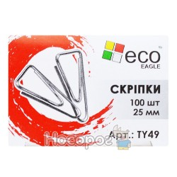 Скрепка EcoEagle 25 mm треугольной формы TY49