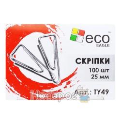 Скріпка EcoEagle 25 mm трикутної форми TY49