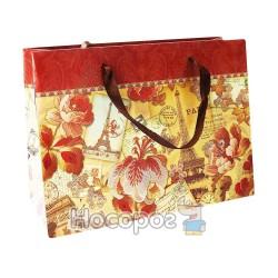 "Пакет подарунковий A+ ЕС-М1-1308 картон, УФ лак ""Букет"", 250гр, 19,6*24,5*8,8см. (12)"