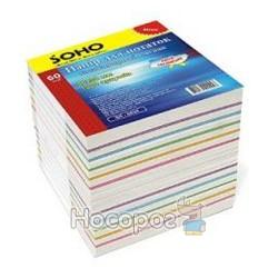 Папір для нотаток не клеєний SOHO мікс кольоровий SH-2811 140201
