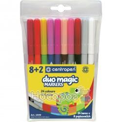 Фломастеры Centropen 2599/8 + 2 Duo Magic